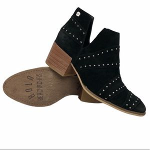 ROXY Handmade black suede HOLA ankle bootie